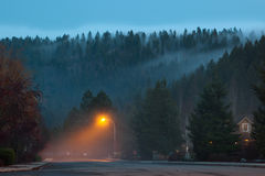 Foggy Neighborhood Royalty Free Stock Photos