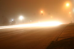 Foggy night Royalty Free Stock Photos