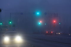 foggy night Στοκ φωτογραφία με δικαίωμα ελεύθερης χρήσης