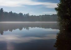 Foggy night lake Royalty Free Stock Photos