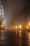 Foggy night in town,Odessa, Ukraine. Foggy night on Primorskii Boulevard,Odessa,Ukraine stock photo