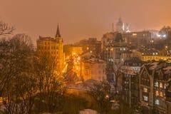 Foggy night v2 Stock Image