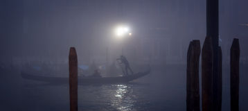 Foggy night in Venice Royalty Free Stock Photos