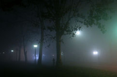 Foggy night Stock Image
