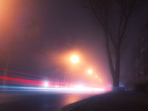 Foggy nightly Kiev Royalty Free Stock Photography