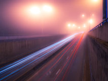 Foggy nightly Kiev Royalty Free Stock Photos