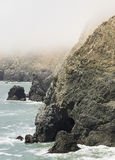 Foggy Oceanside Cliffs Royalty Free Stock Photo