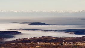 Foggy panorama Royalty Free Stock Photography