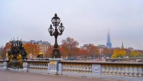 Foggy paris Stock Images