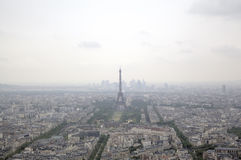 Foggy Paris. View from Monparnas Tower. Royalty Free Stock Image