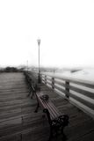 Foggy Pier. In San Francisco harbor stock photography