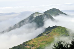 Foggy plateau on Kaçkar mountain, Rize Stock Image