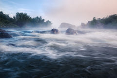 Foggy river morning Royalty Free Stock Photo