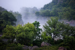 Foggy river morning Royalty Free Stock Images