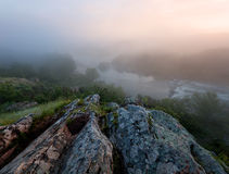 Foggy river morning Stock Image