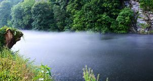 Foggy river Royalty Free Stock Photo
