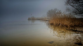 Foggy river Royalty Free Stock Photos