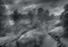 Foggy rivers of Russia-2 Royalty Free Stock Image