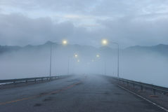 Foggy road Royalty Free Stock Photography