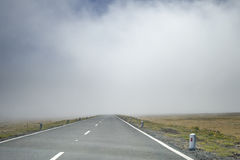 Foggy road Royalty Free Stock Image