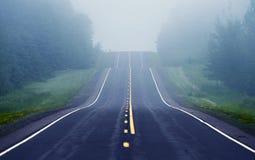 Foggy Road Ahead Stock Image
