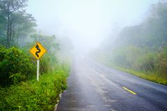 Free Foggy Road In The Forest Royalty Free Stock Photos - 167346568