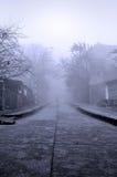 Foggy road Royalty Free Stock Photos