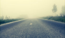 Foggy road, soft focus Stock Photography