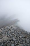 Foggy Rocky Mountain Ridge Royalty Free Stock Photography