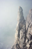 Foggy rocky Mountains cliff Landscape Royalty Free Stock Images