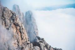 Foggy Rocky Mountains Landscape Royalty Free Stock Photography