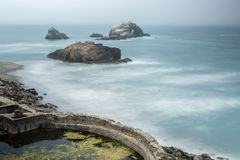 Foggy Ruins of Sutro Baths, San Francisco, California, USA Royalty Free Stock Images