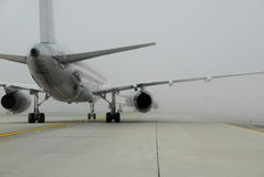 Foggy Runway royalty free stock image