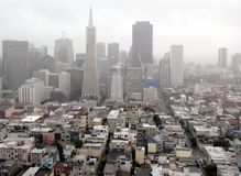 Foggy San Francisco Royalty Free Stock Images
