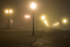 Foggy scene in a Maksimir Royalty Free Stock Image