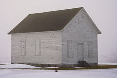 Foggy Schoolhouse. An old one room schoolhouse on a foggy day in upstate New York Royalty Free Stock Images
