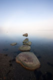 Foggy sea at early morning Stock Images