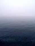 Foggy sea scene. Low angle view of foggy sea scene Royalty Free Stock Image