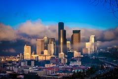 Foggy Seattle Stock Photos