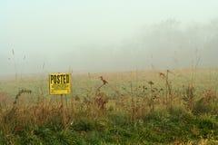 Foggy sign Royalty Free Stock Photos