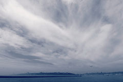 Foggy Sky Over Istanbul, Turkey Stock Images