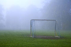 Foggy soccer Royalty Free Stock Photography