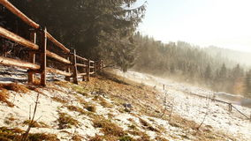 Foggy spring morning. Mist flows between firs. Tatra Mountains. High Definition Video : 29.97 fps 26sec Please look another footages on my TrainArrival Account stock footage