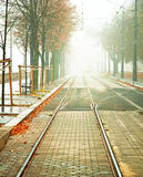 Foggy street Royalty Free Stock Images