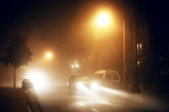 Foggy street Royalty Free Stock Photos