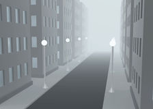 foggy street Στοκ Εικόνες