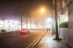 Foggy street Royalty Free Stock Image