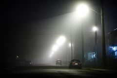 Foggy street Royalty Free Stock Photography
