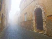 Foggy street in Tuscany Stock Photos