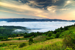 Foggy Summer Mornings Royalty Free Stock Photo